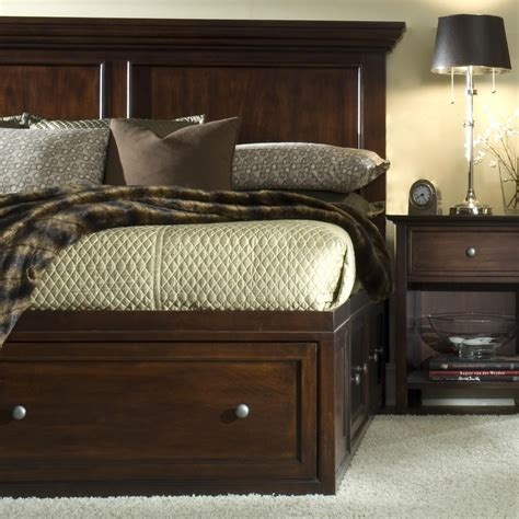 captain beds queen sg spencer transitional king captain storage bed john v