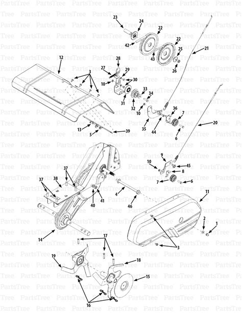 Cub Cadet Tiller Parts Diagram