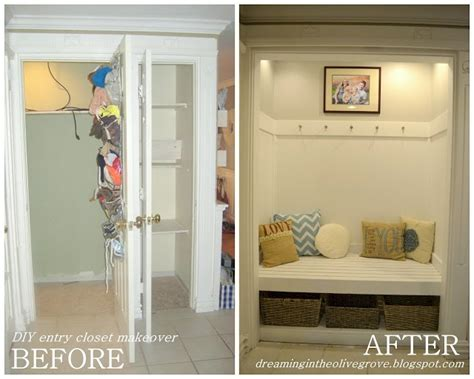 entry closet ideas diy entryway closet makeover diy crafts pinterest