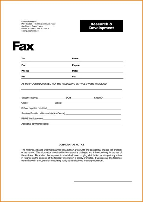 fax sle business cover letter with regard to 17 amazing
