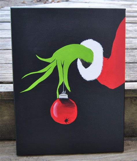 how the grinch stole christmas canvas painting max grinch