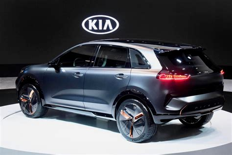 kia vehicles kia niro ev concept debuts at ces with 238 mile driving