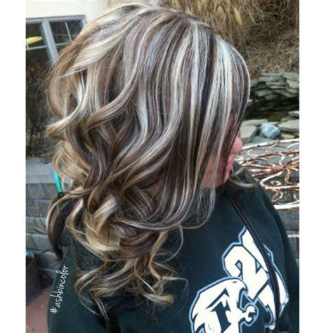 photos of brunette with platinum blonde highlights highlights lowlights insta ashbincolor brunette blonde