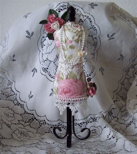 other shabby chic altered pin cushion mannequin