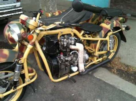 Diesel Motorrad Youtube by Hatz Diesel Dnepr Mt16 Sidecar Motorcycle Youtube