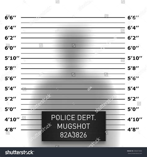 police mugshot template stock vector illustration
