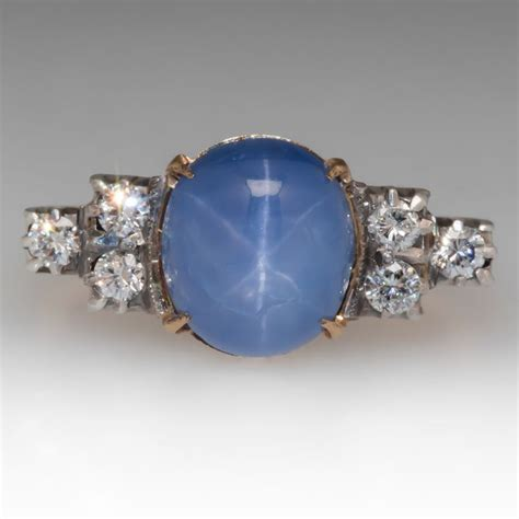 antique engagement rings with sapphire accents