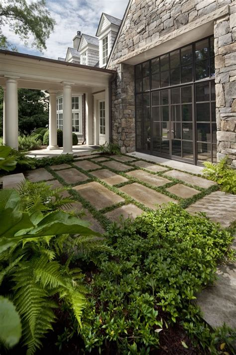 Courtyard Terrace With Limestone Pavers By Howard Design Limestone Patio Pavers
