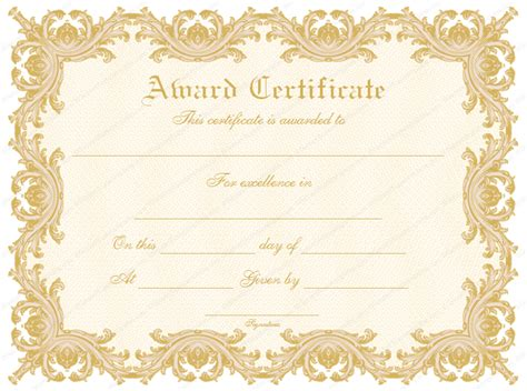 fancy certificate template formal award certificate templates blank certificates