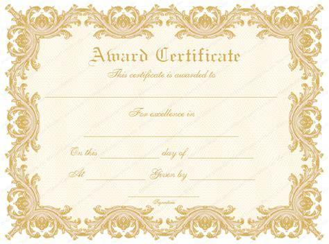 formal award certificate template formal award templates document