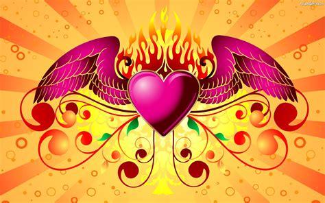 imagenes para pc tiernas skrzydła serce ogień na pulpit