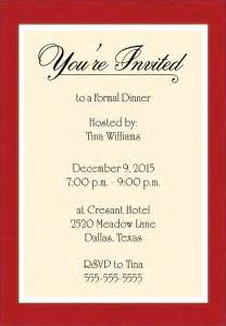 dinner invitation email template exles of formal invitation cards sparkling
