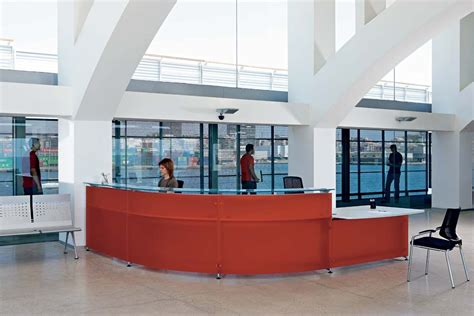 reception desk security screens reception desk with integrated security screen