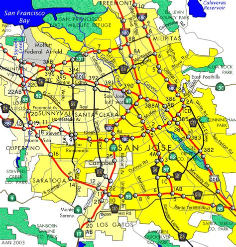 san jose map of neighborhoods maps of san jose