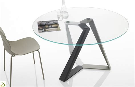 tavolo tondo vetro tavolo design rotondo millennium di bontempi arredo