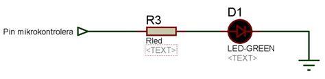 led dioda karakteristike led diode pic mikrokontroleri