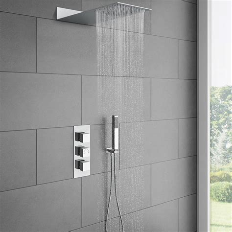 Shower Packages by Milan Square Shower Package At Plumbing Co Uk