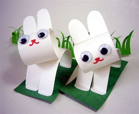 Things You Can Make With Construction Paper - paper bunny craft diy easter easter