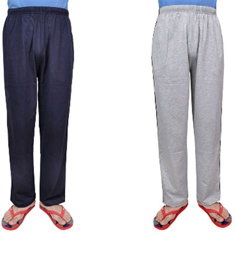 comfort wear comfort wear multicolor cotton blend trackpants combo of