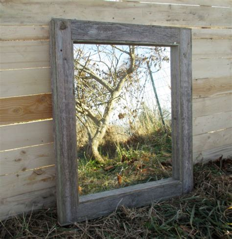 Wood Frame Mirror For Bathroom Reclaimed Wood Mirror Rustic Lodge Decor Bathroom Mirrors