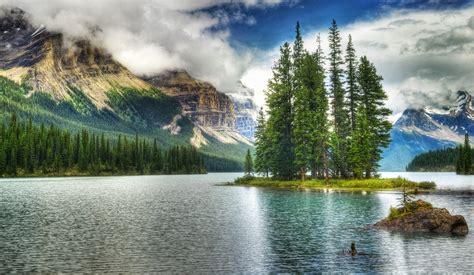 lac bleu brun du Canada PARC NATIONAL JASPER Papier peint