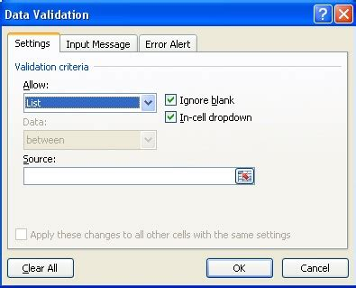 excel 2007 format data validation input message box data validation using excel onsite software training