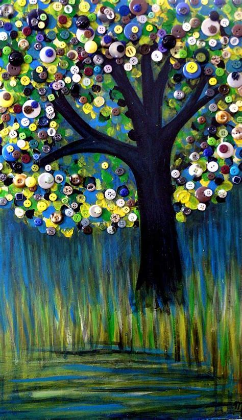 Button Painting button tree 0005 print by furlow