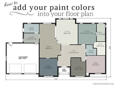 coffee and pine floor plan color scheme selling that