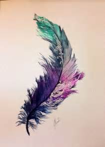 water color feather feather tattoos designs and ideas
