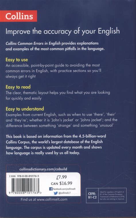 0008101760 collins common errors in english collins common errors in english your essential guide to