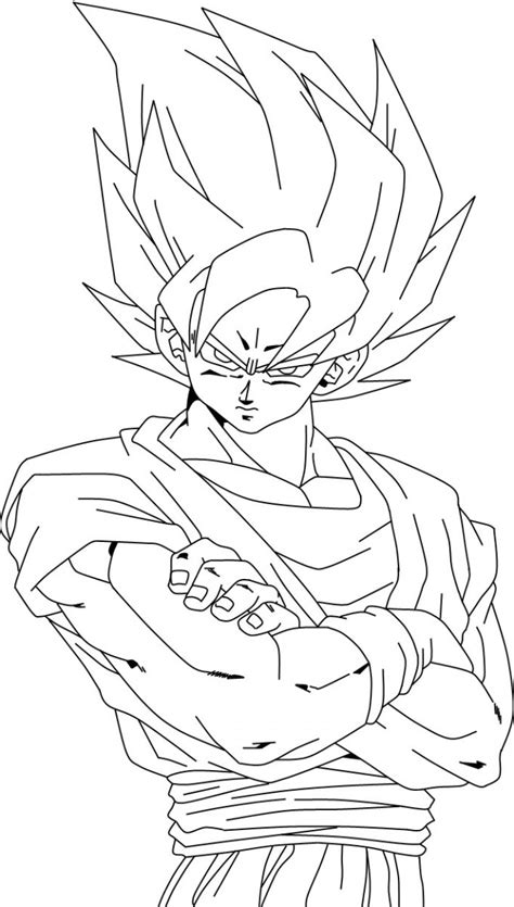 Free Coloring Pages Of Goku Fase 4 Goku Coloring Pages