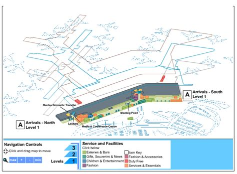 sydney airport diagram sydney australia airport terminal map pictures to pin on