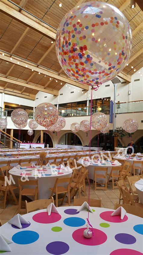 Confetti Decorations by Confetti Balloon Centerpiece Confetti Balloons