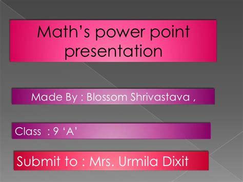 Maths Ppt 7766 Maths Powerpoint Templates