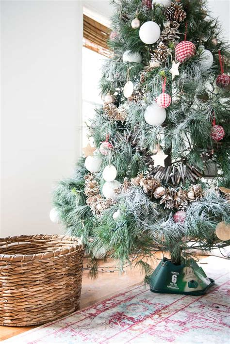 where to put a christmas tree with a fireplace how to put tree in a basket i show you the easy way