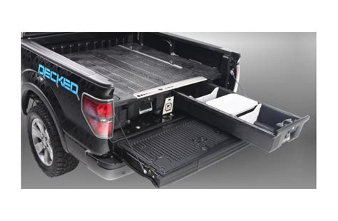 decked bed storage decked in bed sliding drawer storage system mobile living truck and suv accessories