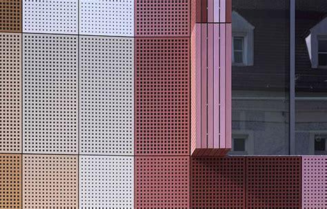 ba bauhaus espagnol ece stadtgalerie passau facade perforated metal sheets by moradelli de moradelli metal