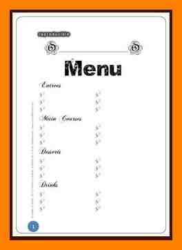 menu templates for pages ipad blank menu templates 8 template fresh depict yet 13
