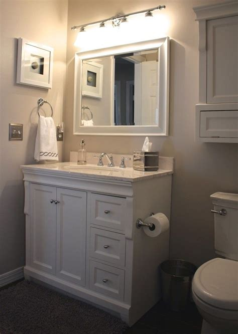 home decor bathrooms our small bathroom makeover new wood look tile vanity