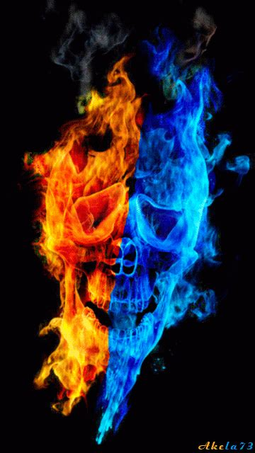 fire water skull pictures   images