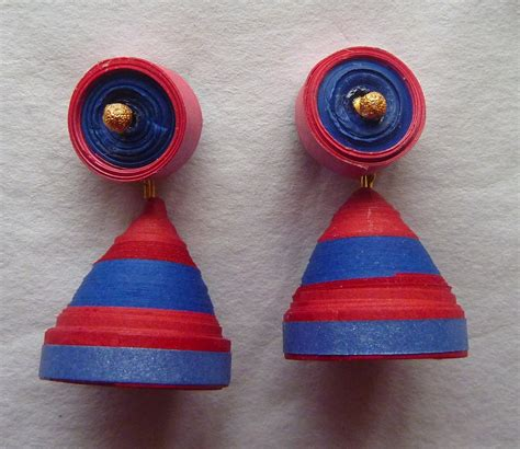 Jhumkas With Paper - paper jhumka with stud shopping