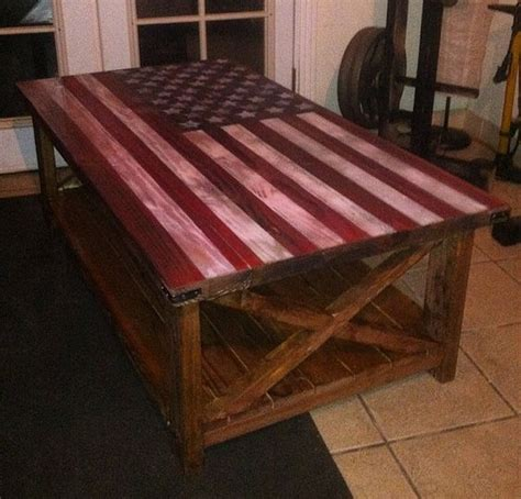 Do It Yourself Coffee Table American Flag Rustic Coffee Table Do It Yourself Home Projects From White Diy