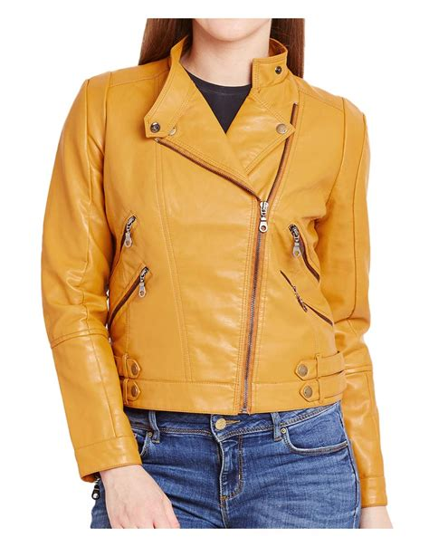 yellow motorcycle jacket s asymmetrical zipper yellow motorcycle jacket