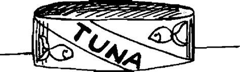 free can tuna coloring pages