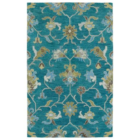 Turquoise Area Rug Kaleen Helena Turquoise 8 Ft X 10 Ft Area Rug 3209 78 810 The Home Depot