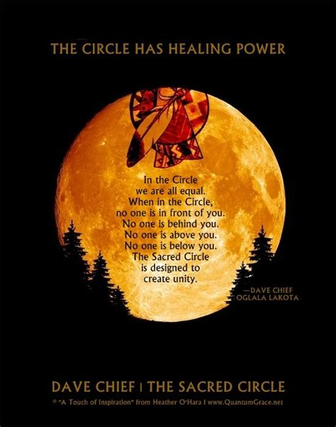 Quot The Circle Has Healing Power In The Circle We Are All