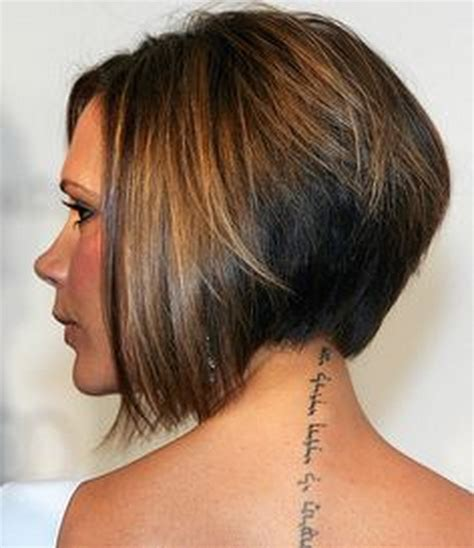 hair style short and stacked on top and long agled sides longer back wedge haircut picture