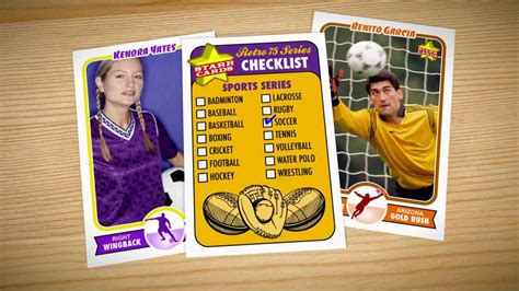 make your own football card make your own soccer card cards retro 75