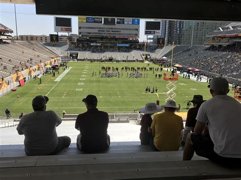 sun devil stadium visitor section sun devil stadium lower level endzone football seating