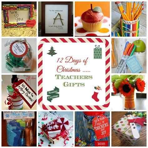 12 days of christmas teacher gift ideas donnahup com